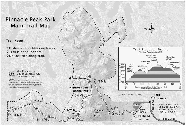 Pinnacle Peak Trail Map - AZ Golf Homes for Sale