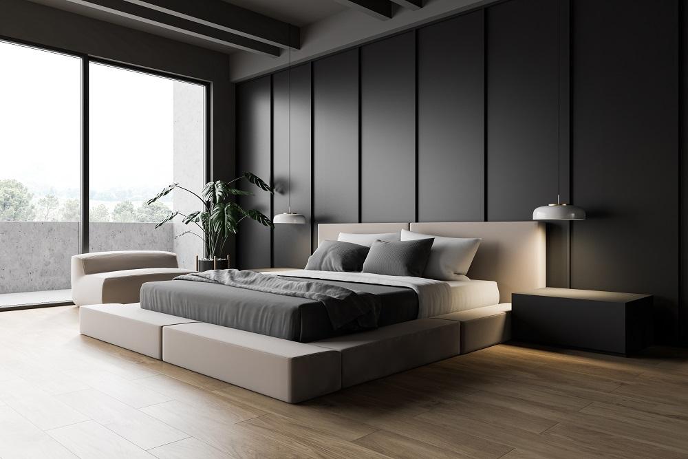 2021 Bedroom Design Trends - Dark Accent Walls